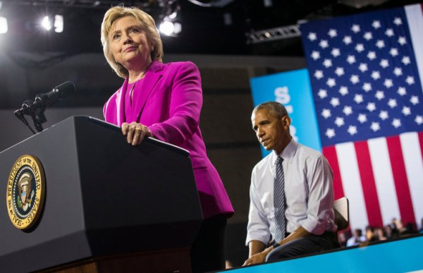 President Obama joined Hillary Clinton on Tuesday for the first time during her presidential campaign. Credit Doug Mills/The New York Times