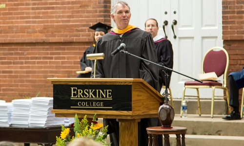 Erskine College and Theological Seminary Erskine Board of Trustees Chairman Ron Vigus