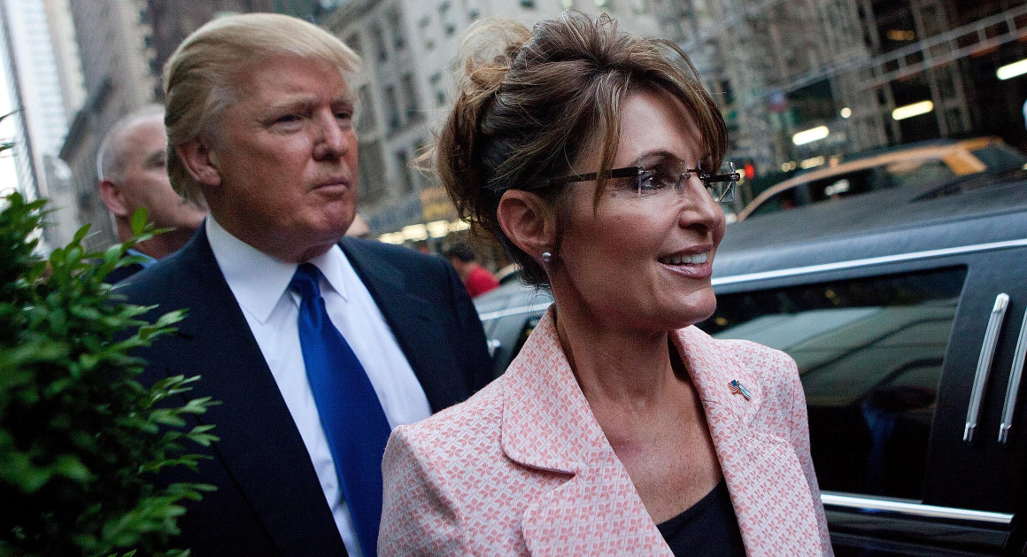 Image result for sarah palin and donald trump